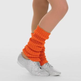 1st Position Stirrup Anklewarmers - 40cm Flo Orange