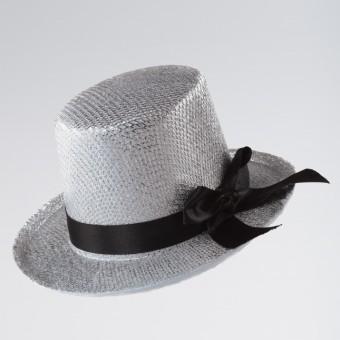 Silver Mini Top Hat on Clip