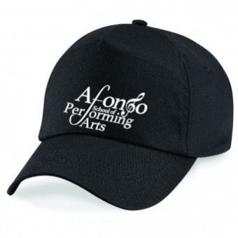 Cotton Baseball Cap (Black) with Afonso School of Performing Arts Logo