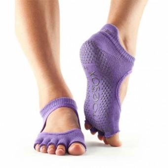 ToeSox Chaussettes Ballerine sans Orteils (Purple)