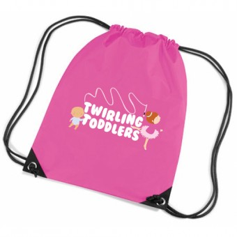 Gymsac Fuchsia with Twirling Toddlers Logo