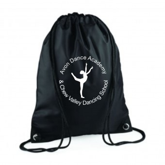 PP *#281168#* Gymsac Black with Avon and Keyford Dance Logo - AVON and CHEW