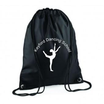 PP *#261102#* Gymsac Black with Avon and Keyford Dance Logo - KEYFORD LOGO