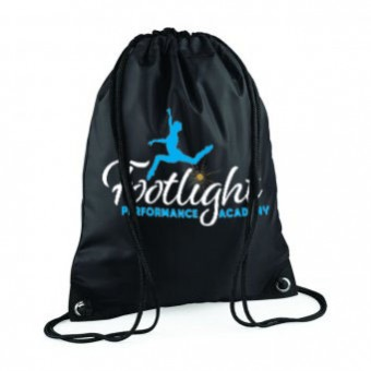 Gymsac Black with Footlight Performance Academy Logo
