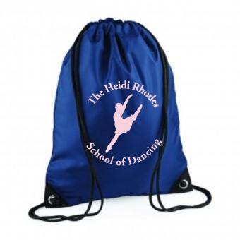 PP *#211101#* Gymsac French Navy with Heidi Rhodes School Of Dancing Logo