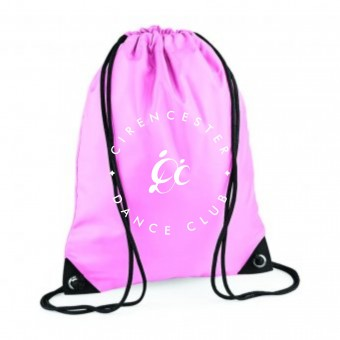 PP *#1#* Gymsac Classic Pink with Cirencester Dance Club Logo