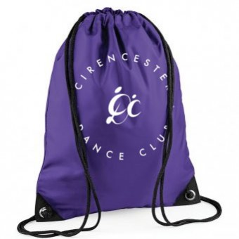 PP *#102#* Gymsac Purple with Cirencester Dance Club Logo