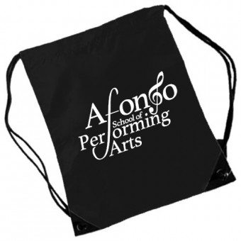Gymsac Black with Afonso School of Performing Arts Logo