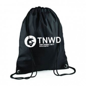 PP*#1014#* Gymsac Black with TNWD Performing Arts Logo