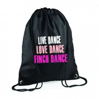 PP*#308#* Gymsac Black with Finch School of Dancing Logo