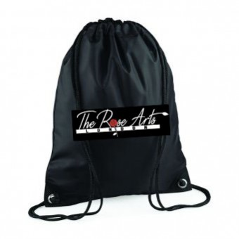 pp*#317#* Gymsac Black with The Rose Arts London Logo