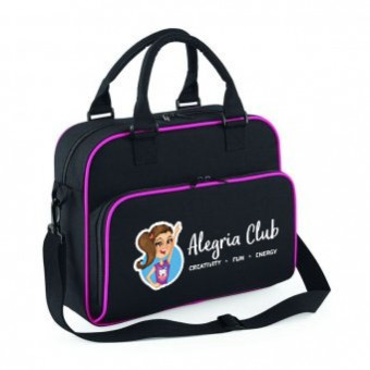 Junior Dance Bag Black/Fushia with Alegria Club Logo