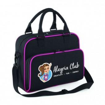 Junior Dance Bag Black/Fushia with Alegria Club Logo
