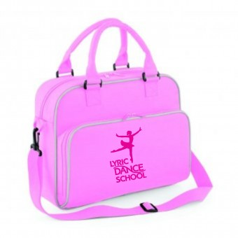 PP *#20091#* Junior Dance Bag Pink with Lyric Dance Studio Logo