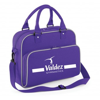 PP *#141140#* Junior Dance Bag Purple with Valdez Gymnastics Club Logo