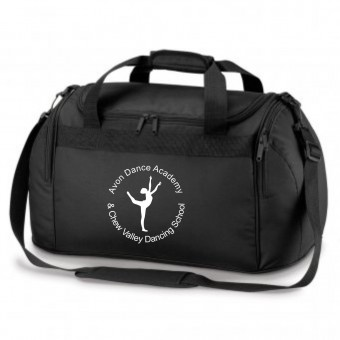 PP *#281167#* Holdall Black with Avon and Keyford Dance Logo - AVOM and CHEW