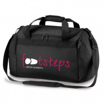 Black Holdall with Footsteps Dance Academy Logo