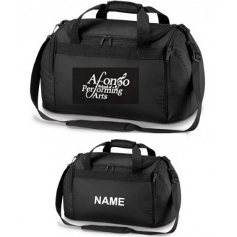 PP*#332#* Holdall Black Personalised with Individual Names and Afonso School of Performing arts Logo
