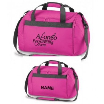 Holdall Fuchsia Personalised with Individual Names and Afonso School of Performing arts Logo