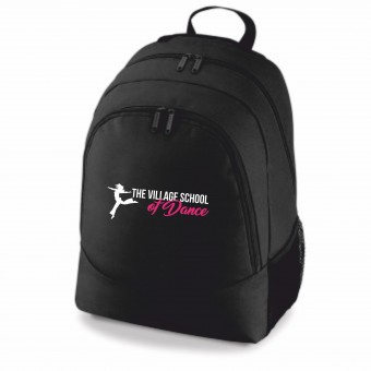 PP *#653758#* Backpack Black with The Village School Of Dance Logo