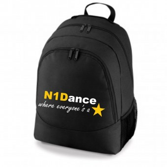 PP *#041033#* Backpack Black with N1 Dance Logo