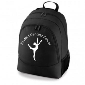 PP *#261103#* Backpack Black with Avon and Keyford Dance Logo - KEYFORD LOGO