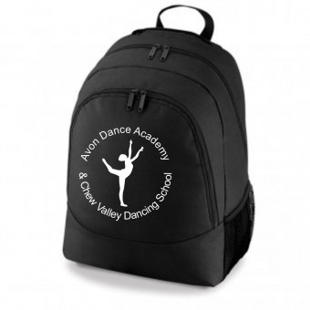 PP *#281166#* Backpack Black with Avon and Keyford Dance Logo - AVON and CHEW