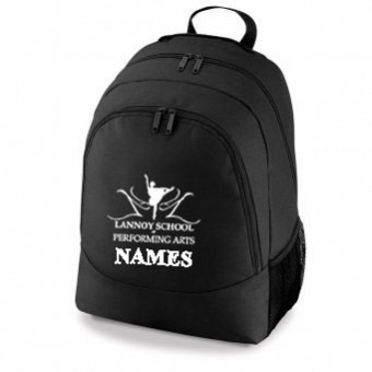 47efcfa415e Backpack Black with Lannoy School Of Performing Arts Logo