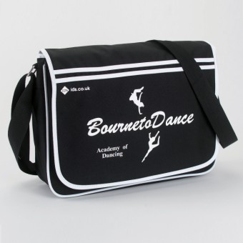 BagBase Retro Messenger Black/White