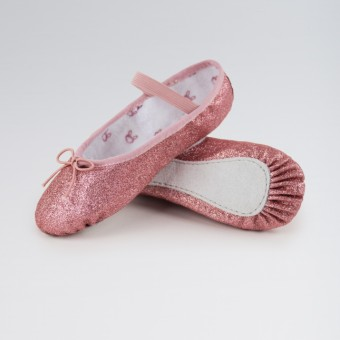 Bloch Glitterdust Full Sole Ballet Shoe (Rose)