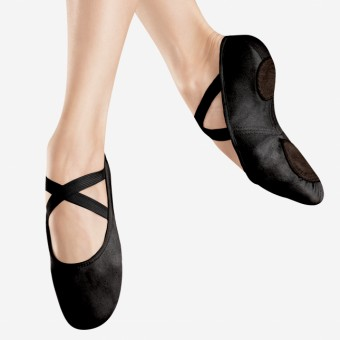 Bloch Canvas Infinity Stretch Ballet Shoe (Black)