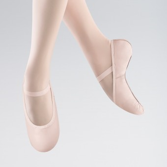 Bloch Belle Full Sole Leather Ballet Shoe (Theatrical Pink)