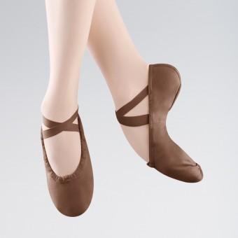Bloch Pump Split Sole Canvas Ballet Shoe (Cocoa)