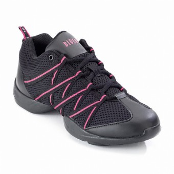 Bloch Criss Cross Mesh Sneakers (Black/Pink)