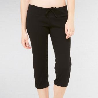 Bella Capri Scrunch Cropped Pants (Black)