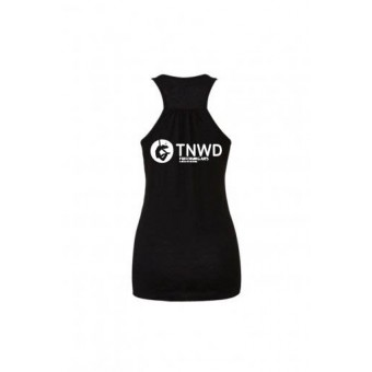 Bella Flowy Racer Back Tank Top (Black) with TNWD Performing Arts Logo