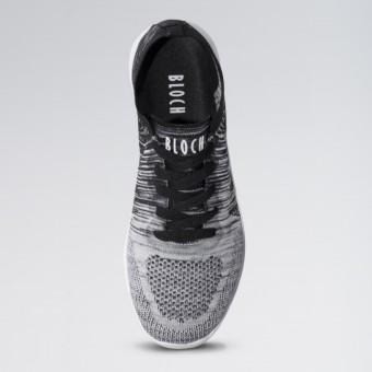 Bloch Omnia Knitted Upper Dance Sneaker (Black/White)