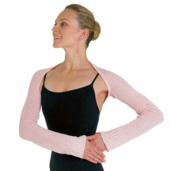 Bloch Lydia Long Sleeve Shrug (Pale Pink)