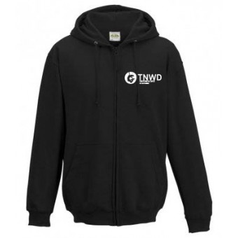 Adult Unisex Zipped Hoodie (Black) with TNWD Performing Arts Logo