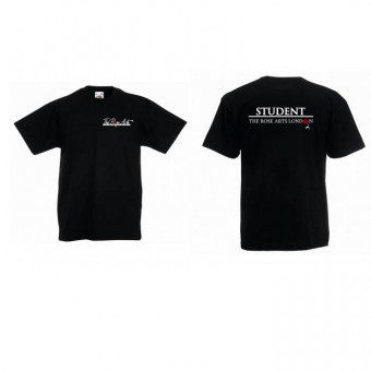 Fruit of the Loom Kids Value T-Shirt (Black) with The Rose Arts London and 'Student' Logo