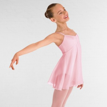 Bloch Childrens Juliet Skirted Cami Leotard (Pink)