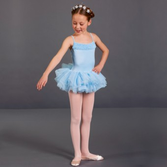 Bloch Desdemona Girls Tutu Leotard (Pale Blue)