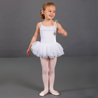 490643425 Bloch Desdemona Girls Tutu Leotard (White)