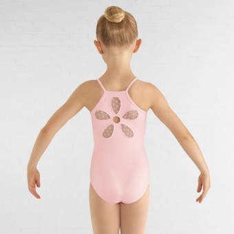 Bloch Begonia Heart Mesh Flower Cami Leotard (Candy Pink)