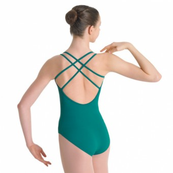 Bloch Alexis Ladies Double Strap Seamed Leotard (Jade Green)