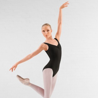 Bloch Adagio Tank leotard with Pinch Front (Black)