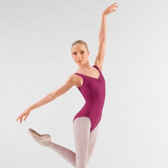 Bloch Adagio Tank leotard with Pinch Front (Burgundy)