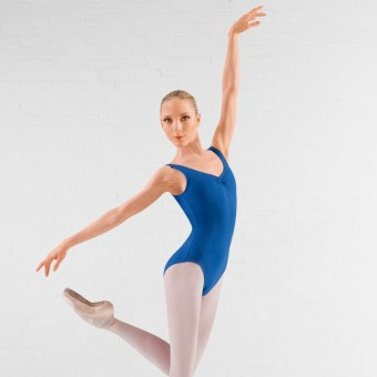 Bloch Adagio Tank leotard with Pinch Front (Royal Blue)