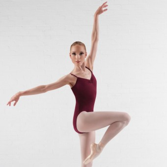 Bloch Royal Pinch Front & Back Leotard (Burgundy)