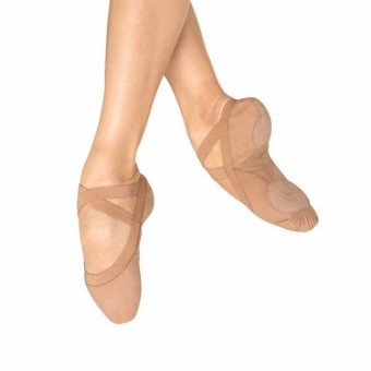 Bloch Pro Elastic Canvas Ballet Shoe (Flesh)